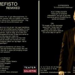 Mefisto Remixed på Teater Giljotin