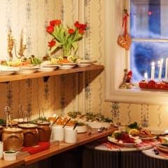 Traditionellt julbord i Stockholm