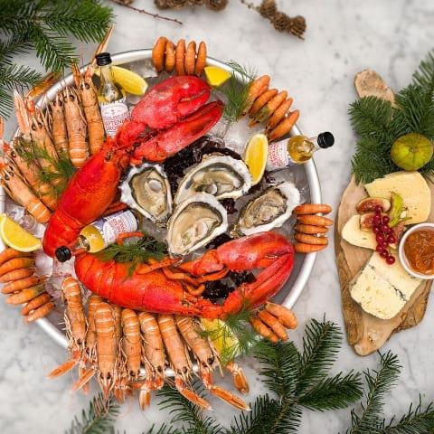 Julbord med skaldjur i Stockholm