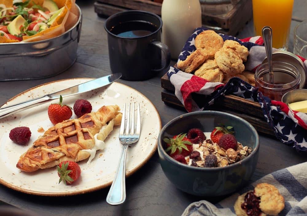 Country style frukost på Austin Food Works