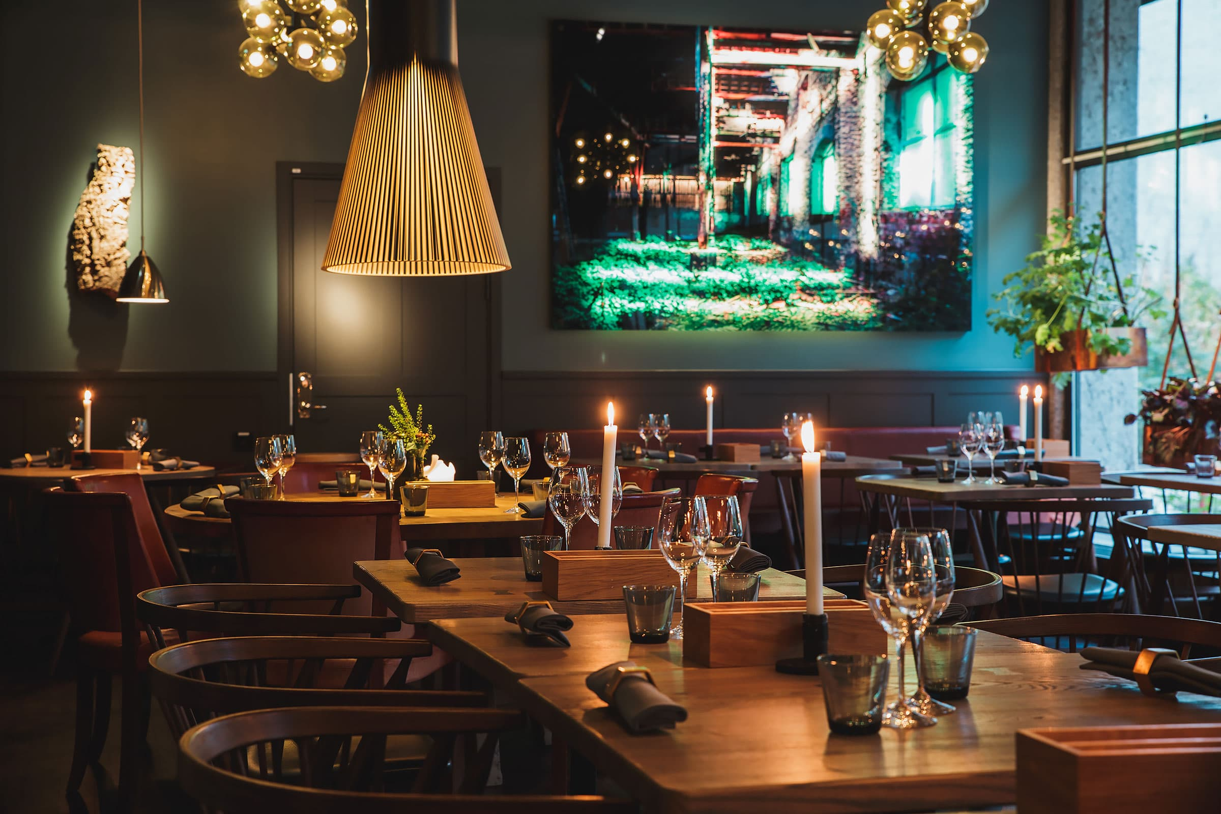 Design restaurants with cool concepts in Stockholm