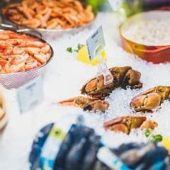 Halva priset på Urban Delis fisk och skaldjur varje söndag
