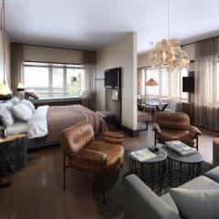 Scandic presenterar sitt första färdiga rum på nya signaturhotellet