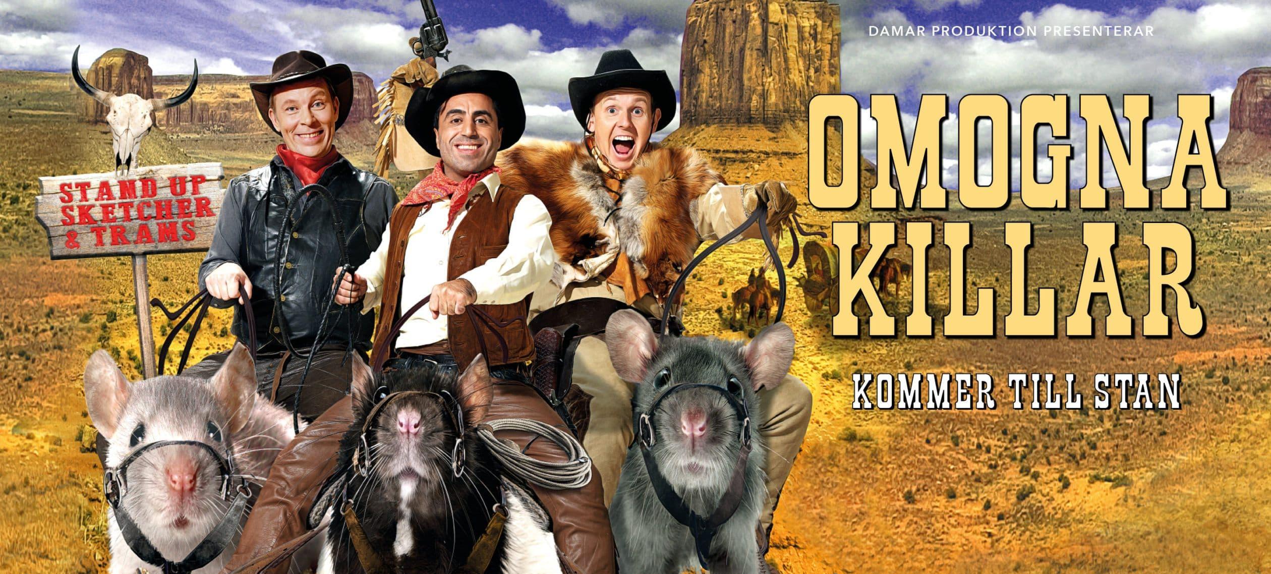 Humorgruppen Omogna killar är tillbaka med ny show