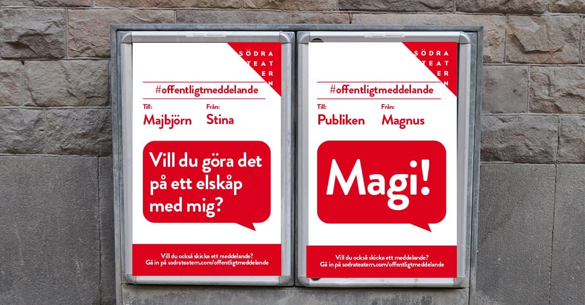 Offentligt meddelande - ett socialt experiment från Södra Teatern
