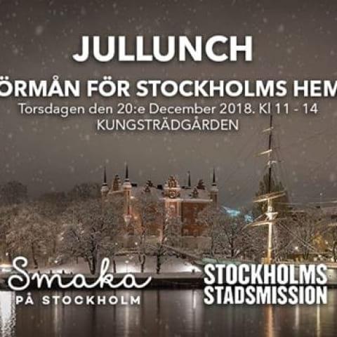 Jullunch i Kungsan för Stockholms hemlösa