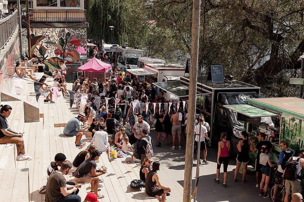 Hornstulls Marknad bjuder på streetfood och loppisfynd