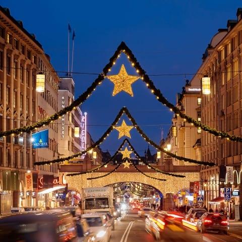 Upptändning av julbelysning i Stockholm