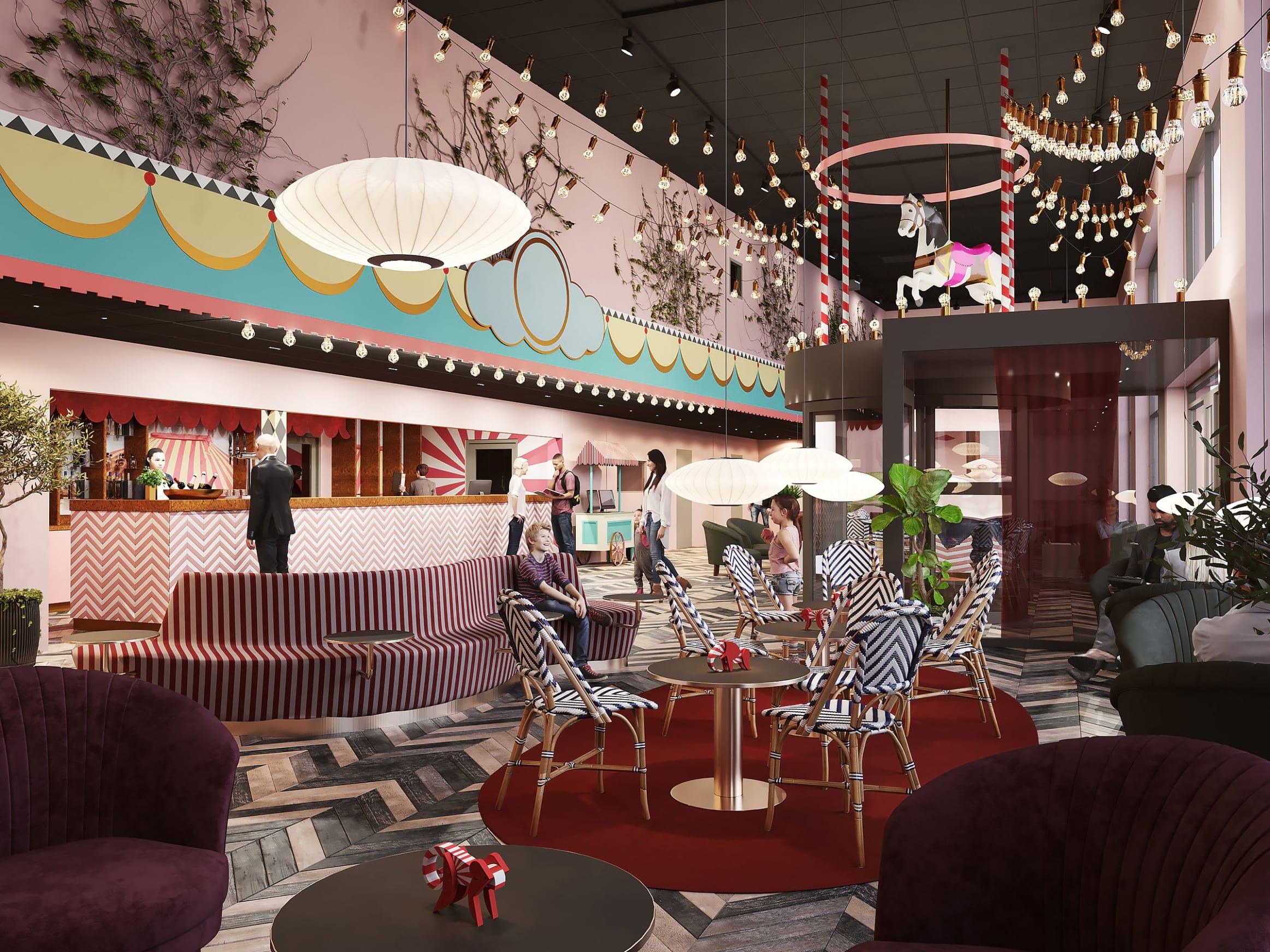 Nytt färgstarkt hotell öppnar – inspirerat av ett tivoli