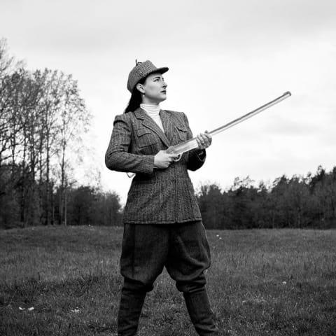 """Vernissage på utställningen """"Biotoper"""", Matilda Kästel, glas"""