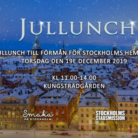 Ät jullunch till förmån för Stockholms hemlösa