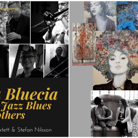 Sankta Bluecia med the jazz blues brothers & gerillavernissage