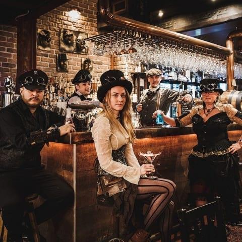 Cocktailtävling med tema fred