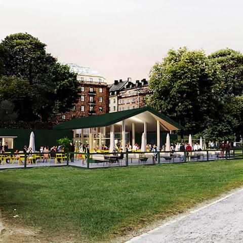 Boulebar bygger ny paviljong i Rålambshov