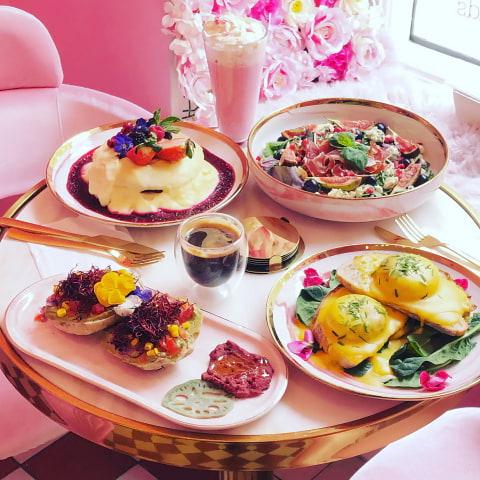 Nytt rosa café är helt anpassat för Instagram