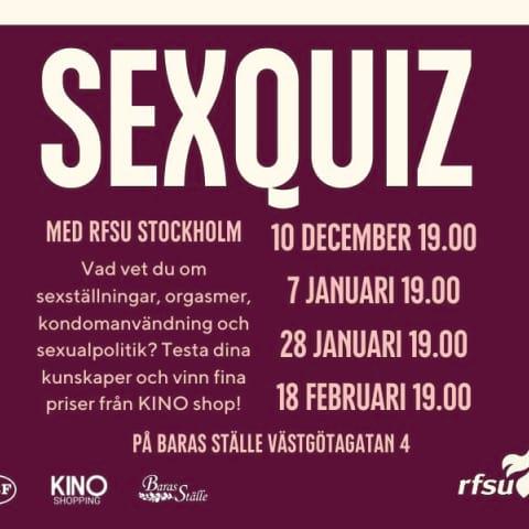 Sexquiz med RFSU Stockholm