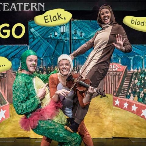Boulevardteatern presenterar: Hugo - elak, blodtörstig och... jättefarlig?