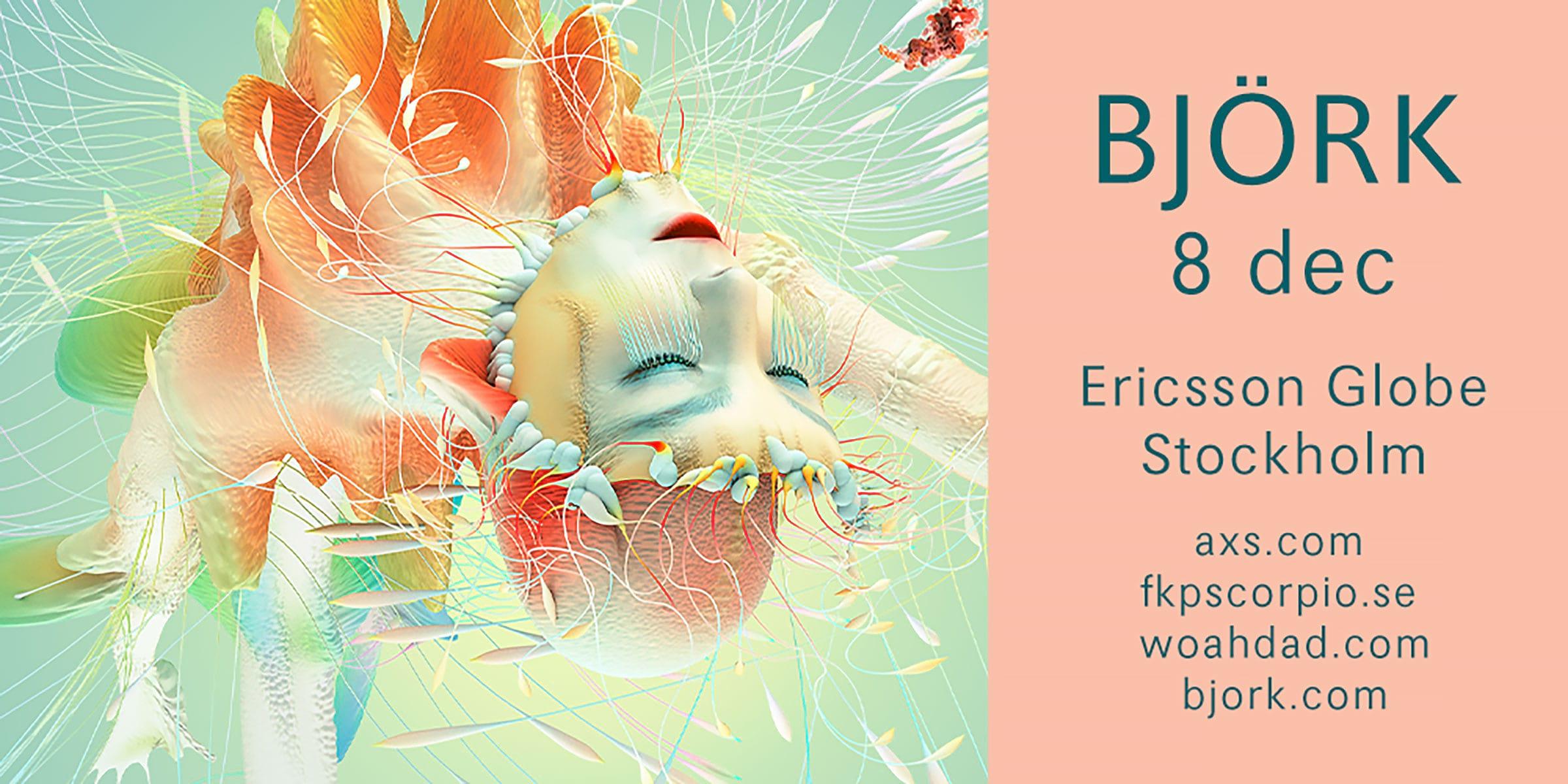 Björk spelar i Globen