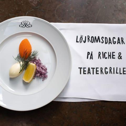 Riche och Teatergrillen serverar årets första löjrom