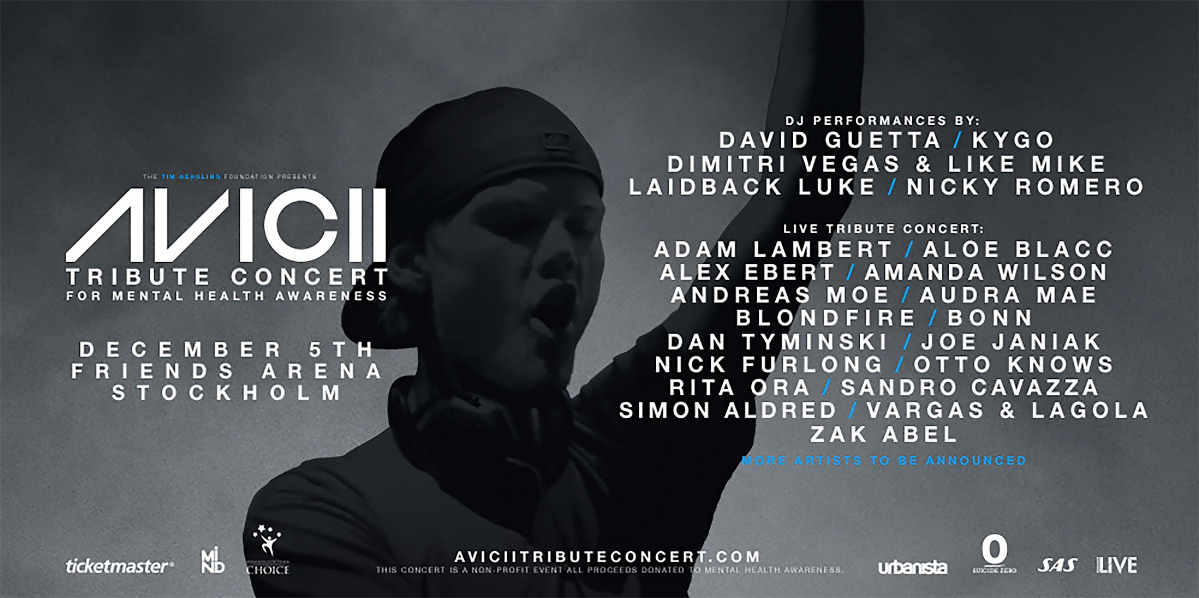 Världsstjärnor hyllar Avicii på Friends Arena
