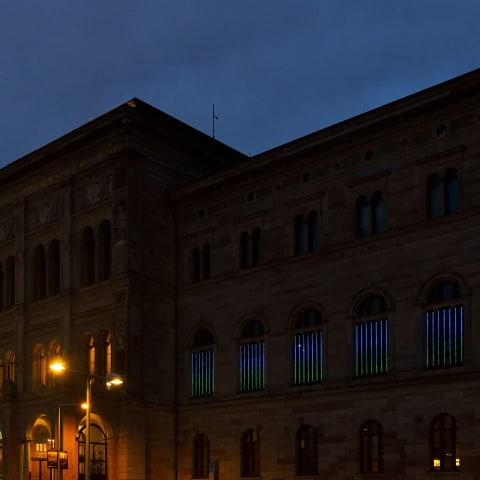 Flera ljusinstallationer i Stockholm under Nobelveckan