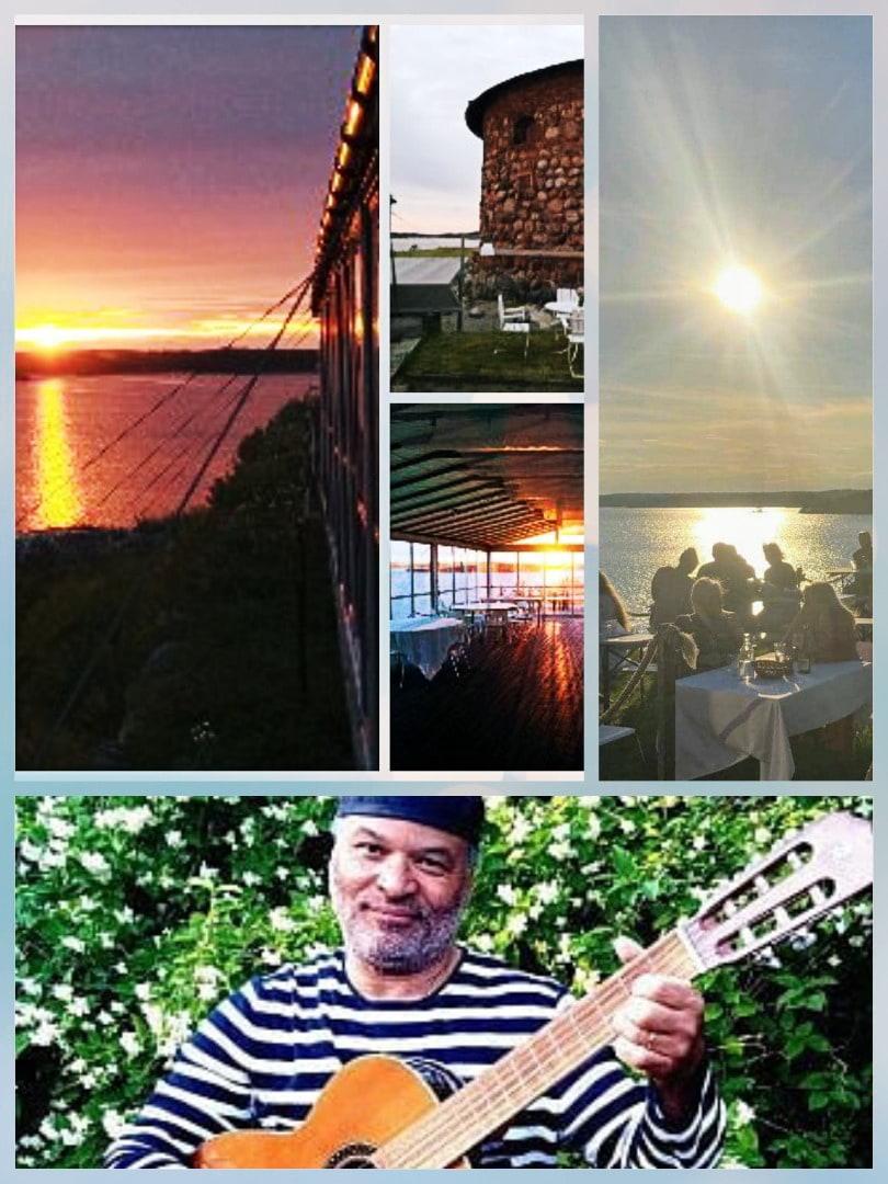 Allsång på Dalarö Skans i augusti