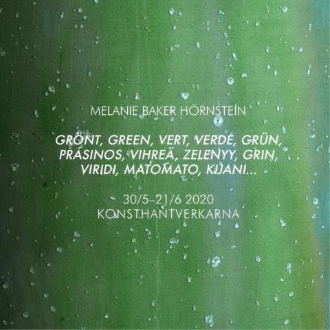Utställning med Melanie Baker Hörnstein