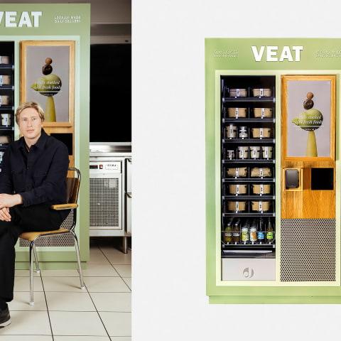 Veganska matautomater sätts ut i Stockholm