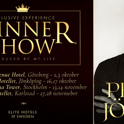 Exklusiv Dinner show med Peter Jöback på Elite