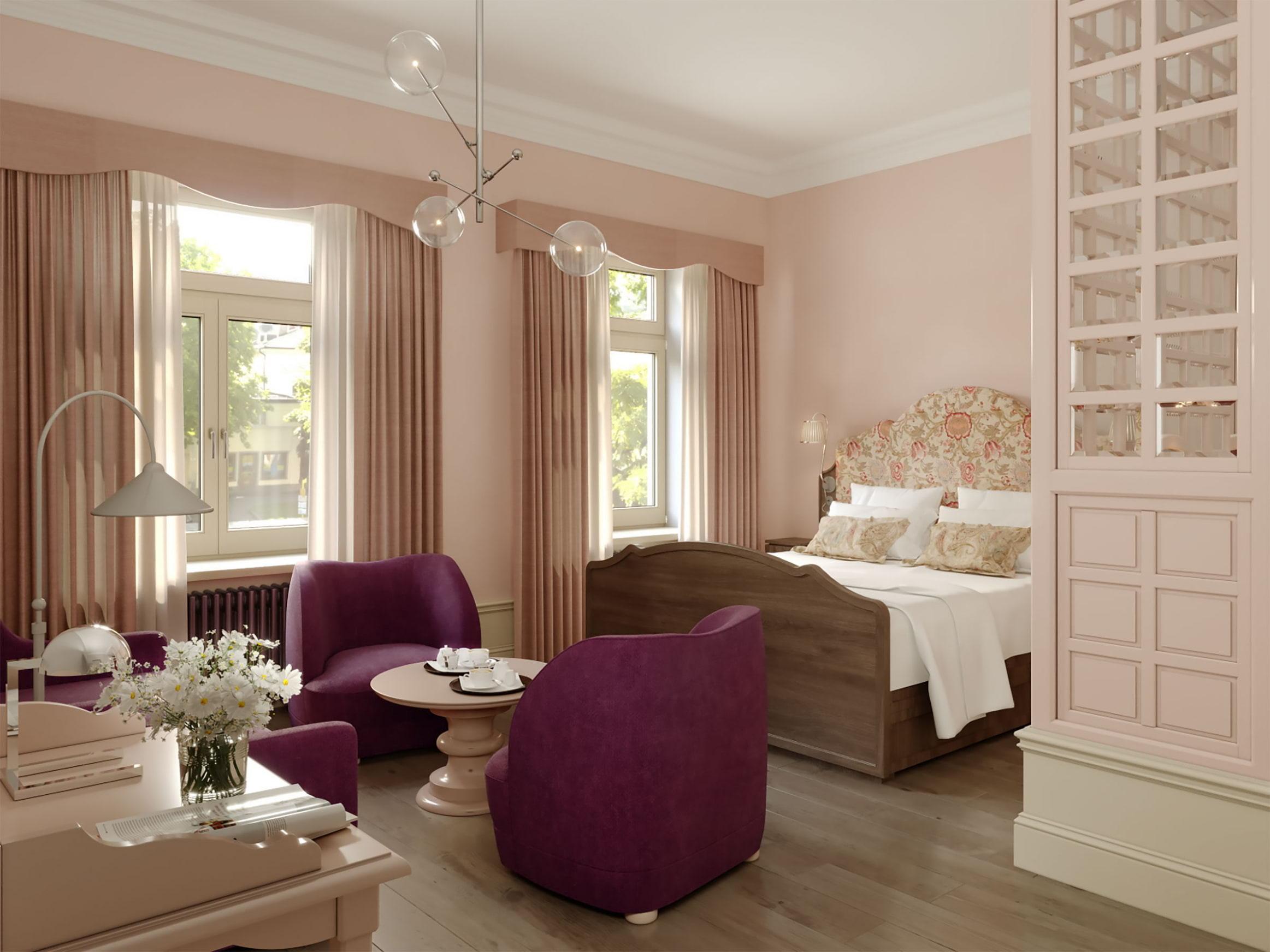 Ett av hotellrummen på Ruth Stockholm. Foto: Pressbild