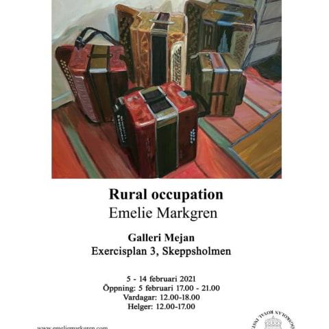 Rural occupation, Emelie Markgren på Kungliga Konsthögskolan