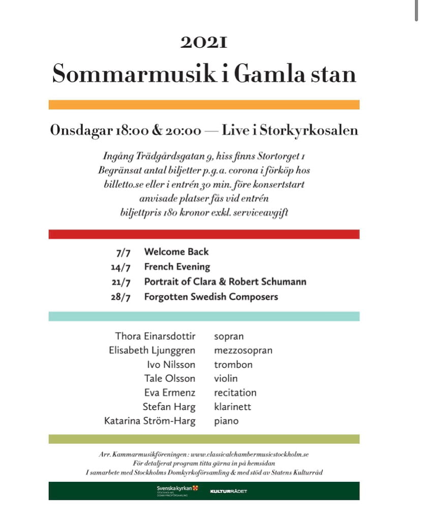 Kammarmusik med Classical Chamber Music Stockholm