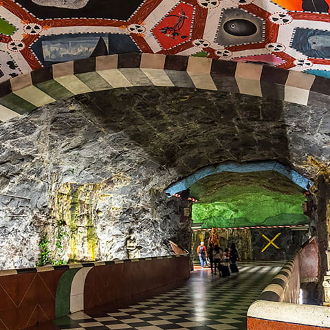 Upptäck konsten i Stockholms tunnelbana