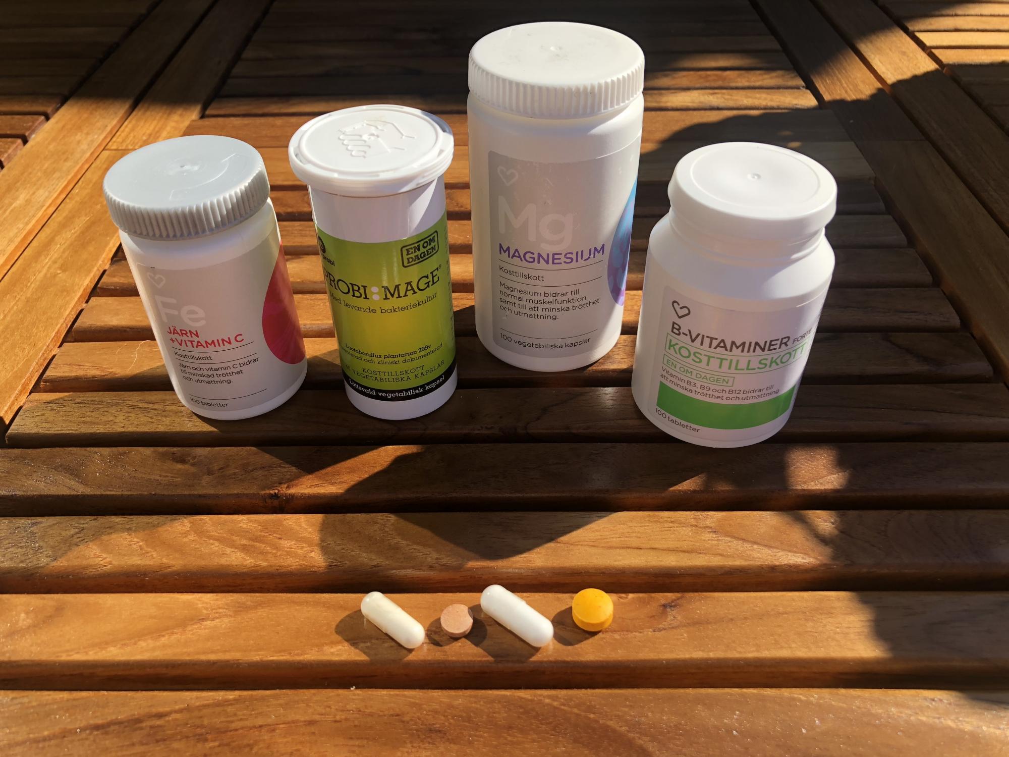 Kosttillskott och probiotika