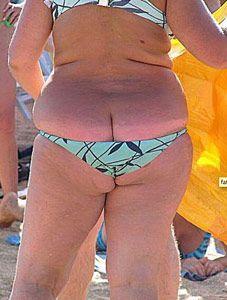 tjock i bikini