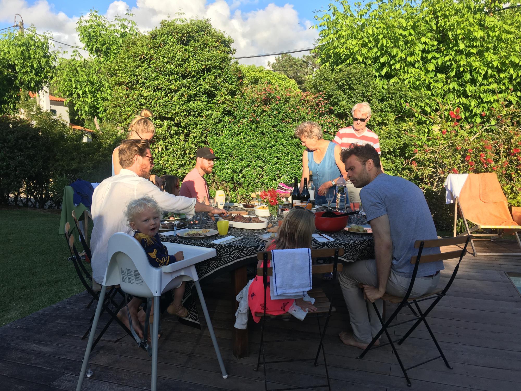 Familjehänget i Portugal