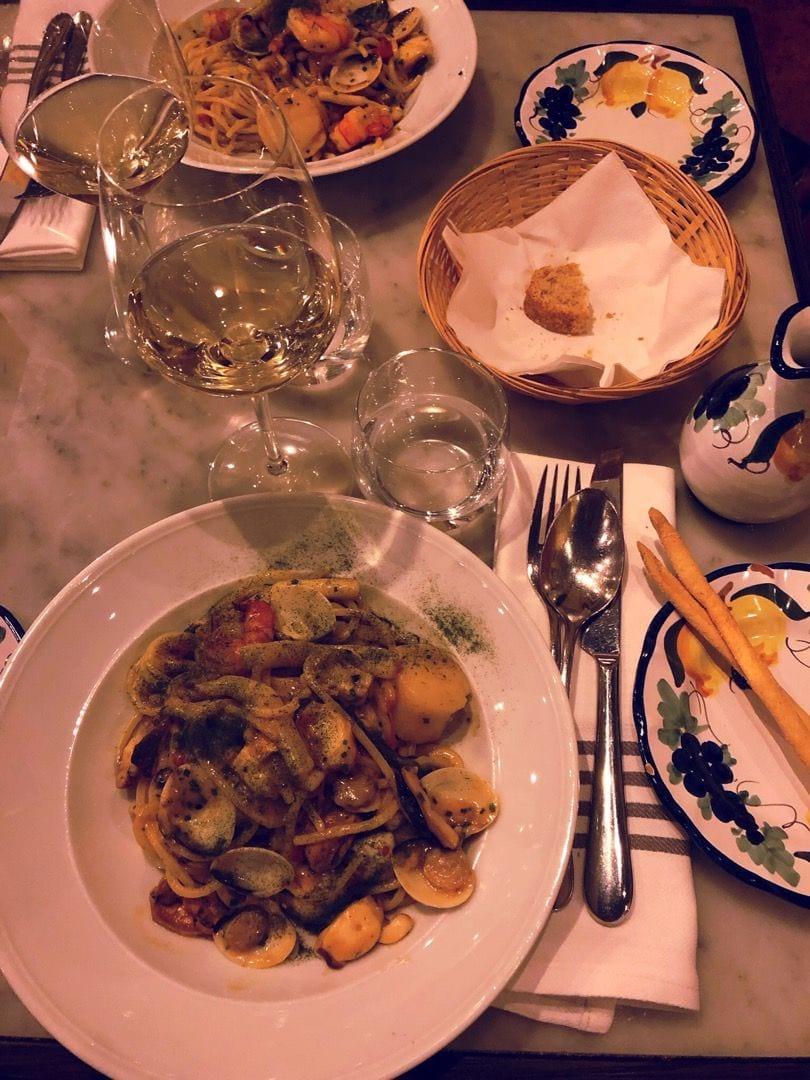 """Pasta """"Pescato"""" – Bild från Adria Ristorante & Bar av Lisa S."""