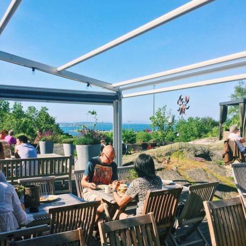 Fantastisk view till frukosten. – Bild från Arken Hotel & Art Garden Spa av Jessica K.