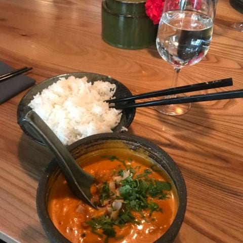 Massama curry på lunchen – Bild från Asian Post Office av Malin S.
