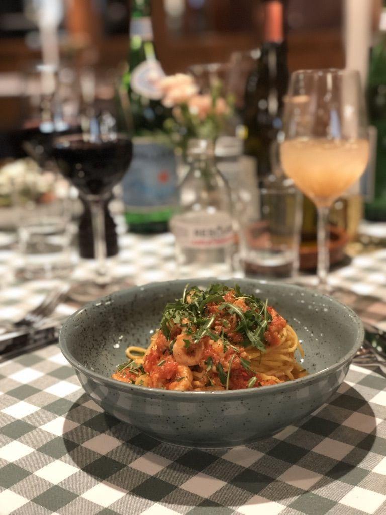 Riktigt god pasta – Bild från Bianchi Café & Cycles av Adam L.