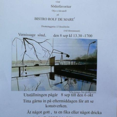 Välkomna till konst på Bistron 8 sep. - 6. Okt. – Bild från Bistro Rolf de Maré av Jan G.