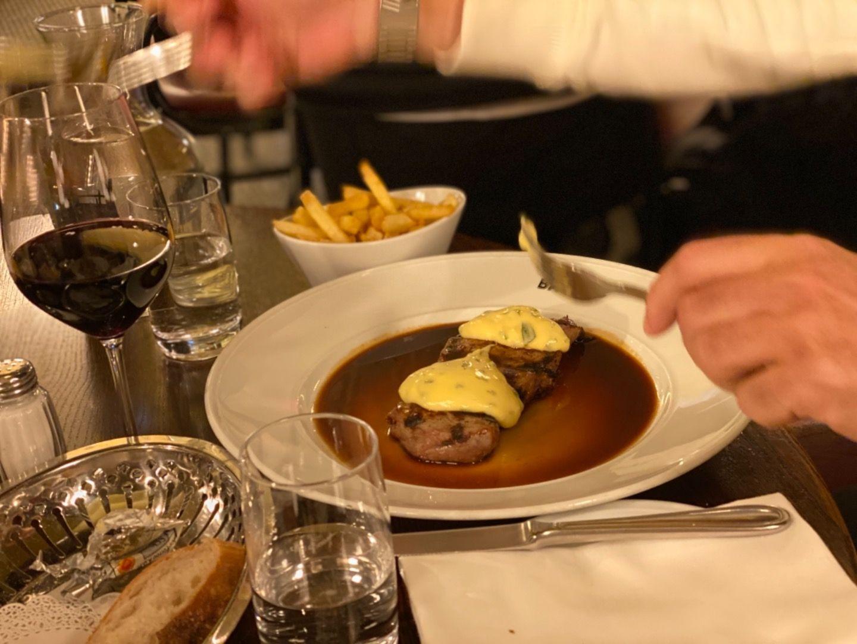 Steak minute – Bild från Brasserie Balzac av Annelie V.