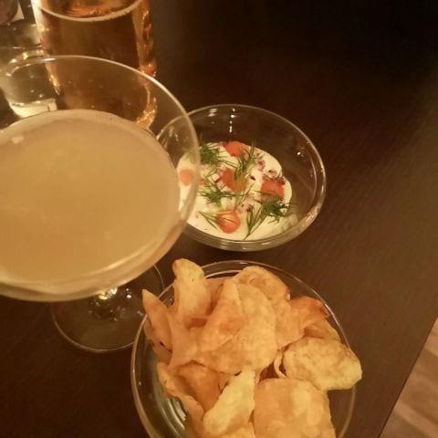 Chips & Löjromsdipp – Bild från Café Cuvée av My J.