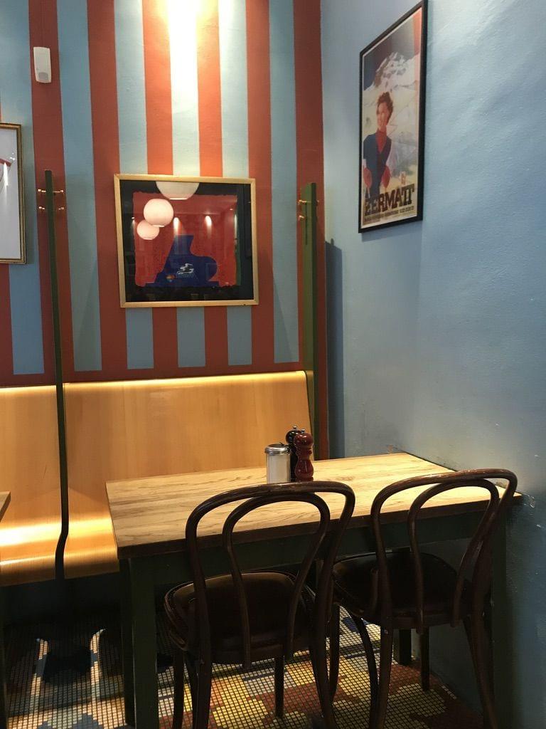 En del av inredningen – Bild från Café Saturnus av Jessica K.