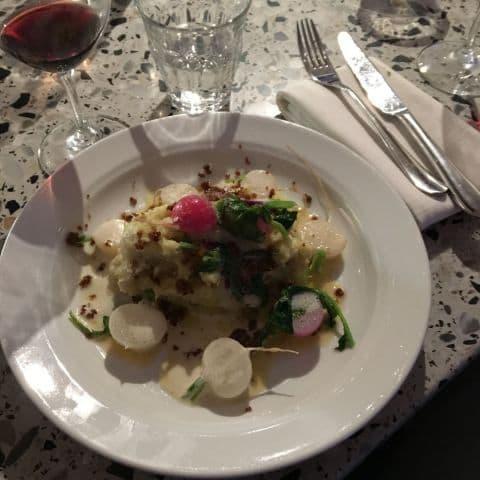 Fiskmos (och fin bardisk!). – Bild från Café Nizza av Johanna L.