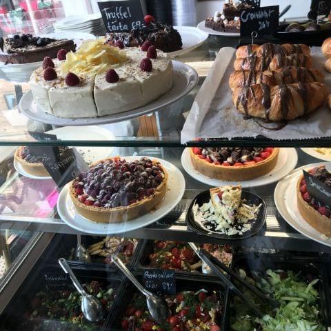 Salladerna längst ner – Bild från Café Pronto av Jessica K.