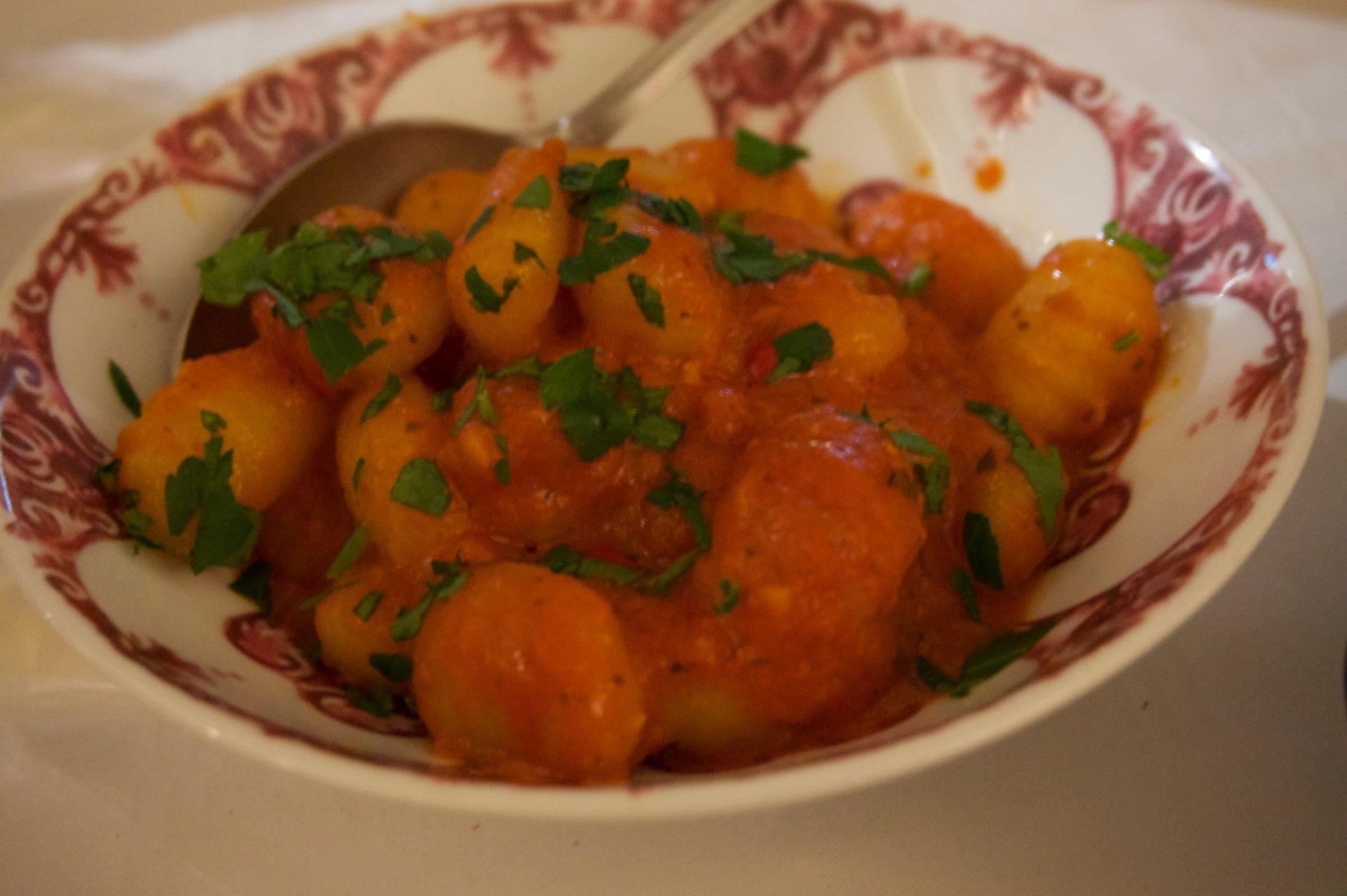 Gnocchi med salsa – Bild från Ciccio's av Lisa S.