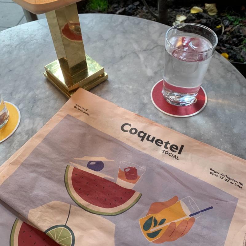 Roliga cocktailmenyn – Bild från Coquetel Social av Sarah A.