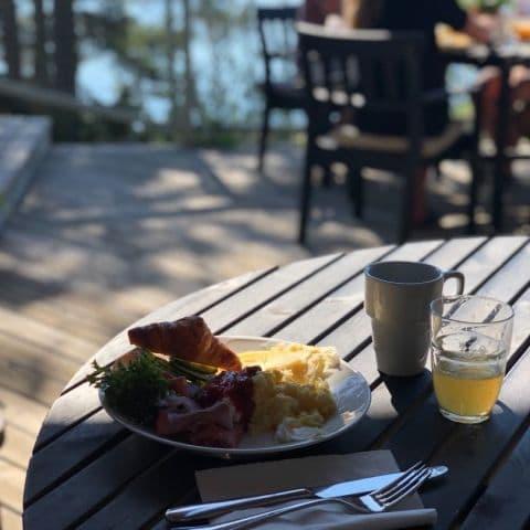Många bra frukostval – Bild från Djurönäset av Annelie V.