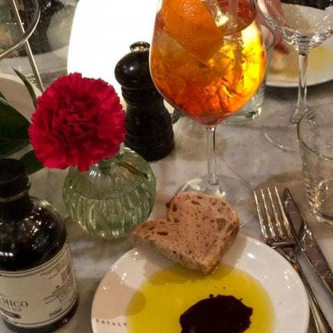 Aperol och bröd – Photo from Eataly by Agnes L.
